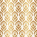 Peacock feather. Vector seamless pattern. Gold elegant floral background. Abstract geometric texture. Golden peacock feather. Cont Royalty Free Stock Photo