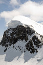 Peak of breithorn seen from klein matterhorn station Royalty Free Stock Photos