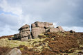 Peak district rock in national park Royalty Free Stock Photo