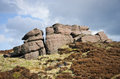 Peak district rock in national park Royalty Free Stock Image