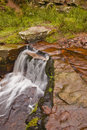 Peak district waterfall small in the national park england Royalty Free Stock Photos