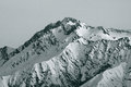 Peak of mountain at winter Royalty Free Stock Photography