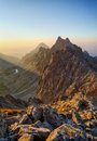 Peak in rocky mountain - Tatra Royalty Free Stock Photo