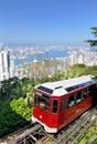 Peak tram in Hong Kong Royalty Free Stock Photo