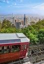 Peak tram Victoria Peak Royalty Free Stock Photo