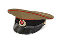 Peaked cap the soldier army ussr on white background with clipping path Stock Photo