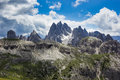 Peaks of the Dolomites of Veneto, Italy. Royalty Free Stock Photo