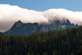 Peaks of gigh tatras slovakia high covered by clouds photographed in the summer in high national park Stock Photos