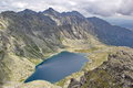 Peaks of High Tatras and lake Hincovo pleso, Slovakia