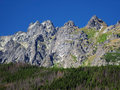 Peaks of Slovak High Tatras at summer