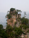 Peaks of tianzi mountain in zhangjiajieof wulingyuan district in zhangjiajie city hunan province china Royalty Free Stock Photography