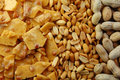 Peanut Brittle with Peanuts Royalty Free Stock Photo