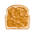 Peanut Butter on Bread Royalty Free Stock Photo