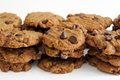 Peanut butter chocolate chip cookies Royalty Free Stock Photo
