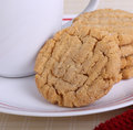 Peanut Butter Cookies Closeup Royalty Free Stock Photo