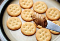 Peanut butter and crackers Royalty Free Stock Photo