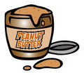 Peanut butter jar Stock Image