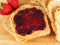 Peanut butter and jelly bread with spread Stock Image