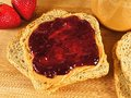 Peanut butter and jelly bread with spread Royalty Free Stock Photo