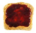 Peanut butter and jelly isolated slice of bread with spread Royalty Free Stock Photo