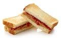 Peanut butter jelly sandwich Royalty Free Stock Photo