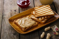 Peanut butter sandwich Royalty Free Stock Photo