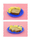 Peanut Butter Sandwiches With Chips Royalty Free Stock Photography