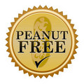 Peanut Free Seal Royalty Free Stock Image