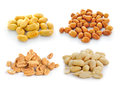 Peanuts  isolated on white background Royalty Free Stock Photo