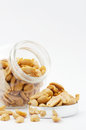 Peanuts in jar with cover Stock Image