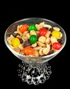 Peanuts, raisins and jelly beans Royalty Free Stock Photo