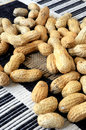 Peanuts for snack time carbohydrate diet nuts rustic seeds Stock Photo
