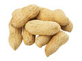 Peanuts on white background the Stock Image