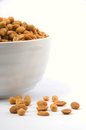 Peanuts in white cheramic dish on background Royalty Free Stock Photos