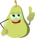 Pear with attitude vector style illustrated vector format is available Stock Photos