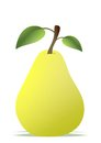 Pear cartoon Royalty Free Stock Photo