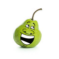 Pear character happy cartoon isolated on white background Royalty Free Stock Image