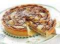 Pear and Chocolate tart Royalty Free Stock Photo