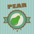 Pear design over blue background vector illustration Stock Photos