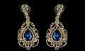 Pear Diamonds Earrings Royalty Free Stock Photo