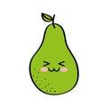 Pear fresh fruit comic character