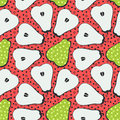 Pear fruit motif seamless pattern. Colorful decoration design