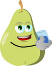 Pear with a glass of water vector style illustrated vector format is available Royalty Free Stock Photos
