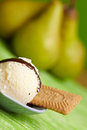 Pear ice cream Stock Image
