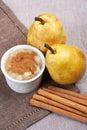 Pear jam, still life. Royalty Free Stock Photo