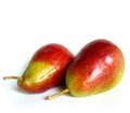 Pear two pears with red colouring Royalty Free Stock Photography