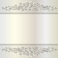 Pearl background with floral ornaments Stock Photography