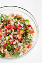 Pearl barley salad Royalty Free Stock Photos