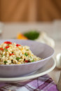 Pearl barley salad Stock Photo