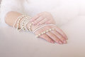 Pearl bracelets. Royalty Free Stock Photo
